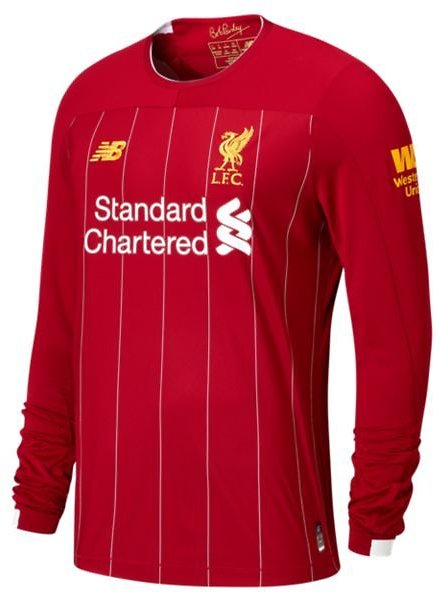 75% OFF Men's Liverpool FC Home Long Sleeve Jersey No EPL Patch