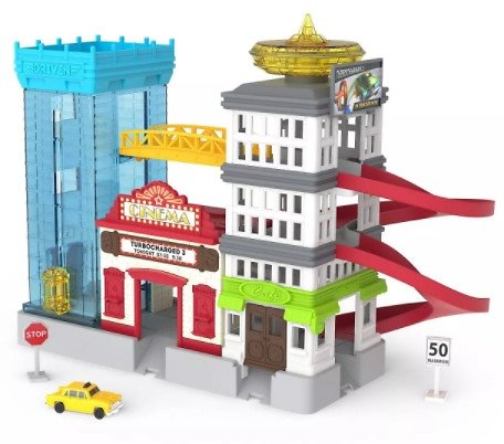 Driven Pocket Series Vehicle Playset - Parking and Building