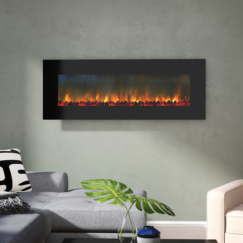 Quevedo Wall Mounted Electric Fireplace