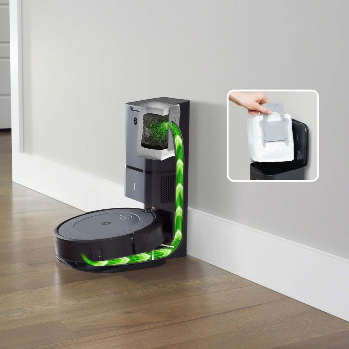IRobot Roomba® I3+ (3550) Wi-Fi® Connected Robot Vacuum with Automatic Dirt Disposal Neutral I355020