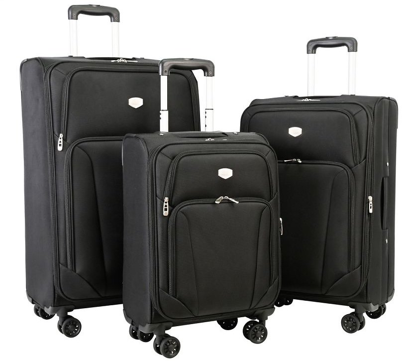 Berkley Jensen 3-Piece Expandable Spinner Set - Black