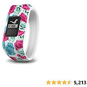 Garmin 010-01634-02 Vívofit Jr, Kids Fitness/Activity Tracker, 1year Battery Life, Real Flower