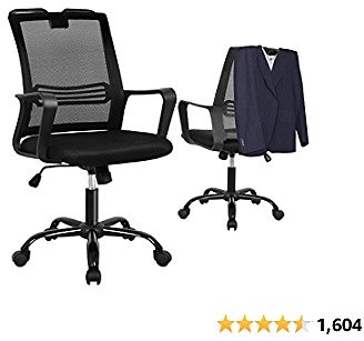 Mid-Back Breathable Mesh Office Desk Chair with Lumbar Support for $58.99