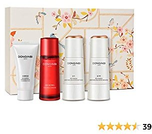 DONGINBI Korean Red Ginseng Essential Care Set, Anti-Aging & Hydration, 1899 Single Essence, Moisture Lotion