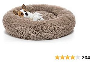 OCSOSO Dog Bed Washable Plush Round Pet Bed Snooze Sleeping Cozy Kitty Teddy Kennel Soft Comfortable Donut Cuddler for Cat and Small Dogs
