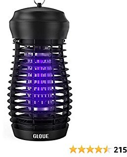 GLOUE Bug Zapper for Outdoor - High Powered Waterproof Electric Mosquitoes Zapper Killer, Insect & Fly Trap , Light Bulb Lamp for Backyard, Garden, Patio, Home