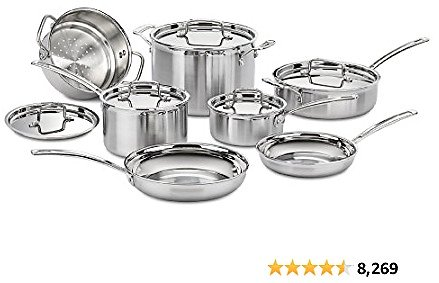 Cuisinart MCP-12N Multiclad Pro Stainless Steel 12-Piece Cookware..