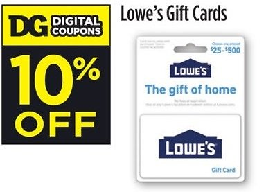 10% Off Lowe's Gift Cards (In-Store)