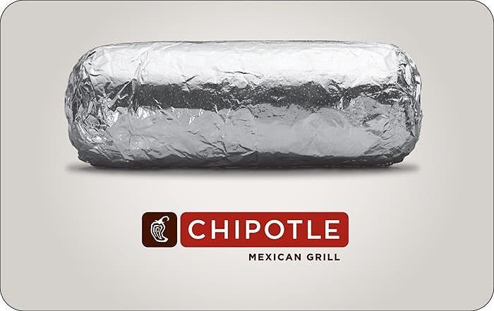 $50 Chipotle eGift Card for $45