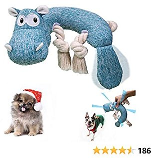 Geburun Dog Plush Toys, Interactive Stuffed Dog Chew Toys Squeaky Dog Toys for Medium Dog Puppy Small Large Dogs Suitable for Aggressive Chewers