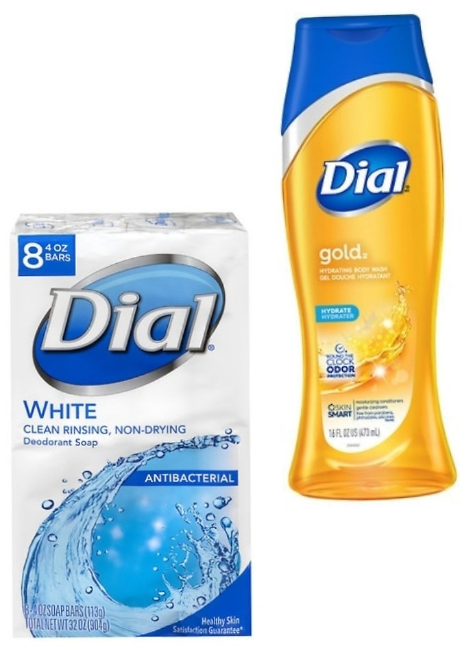 2 for $4 Dial Body Wash & Bar Soap