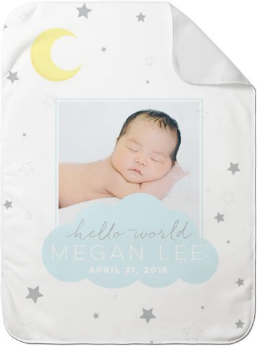 Moon and Stars Twinkle Baby Blanket | Shutterfly