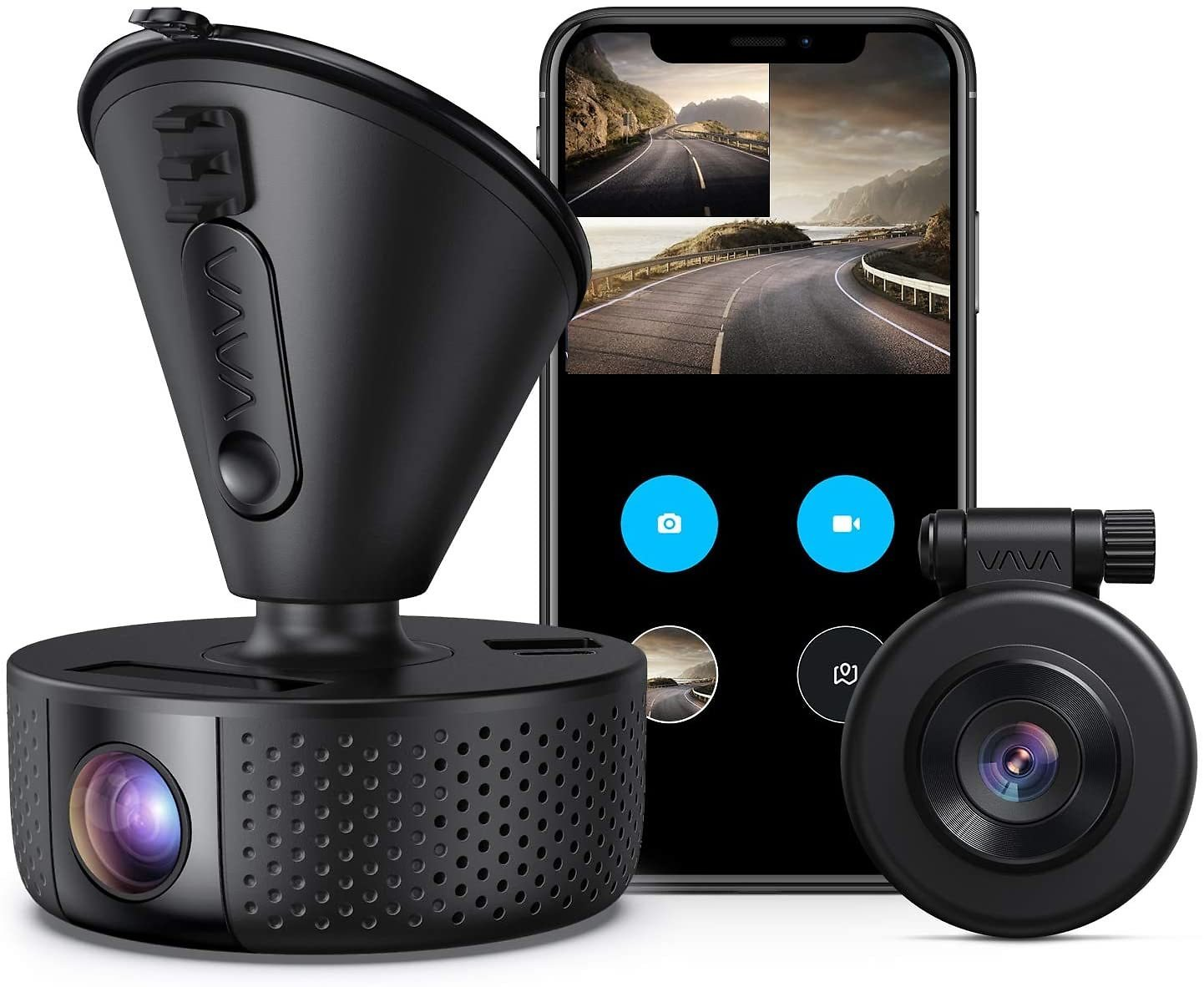 Front and Rear Dual Dash Camera | 2560x1440P Single Front | for Cars with Wi-Fi And Night Vision