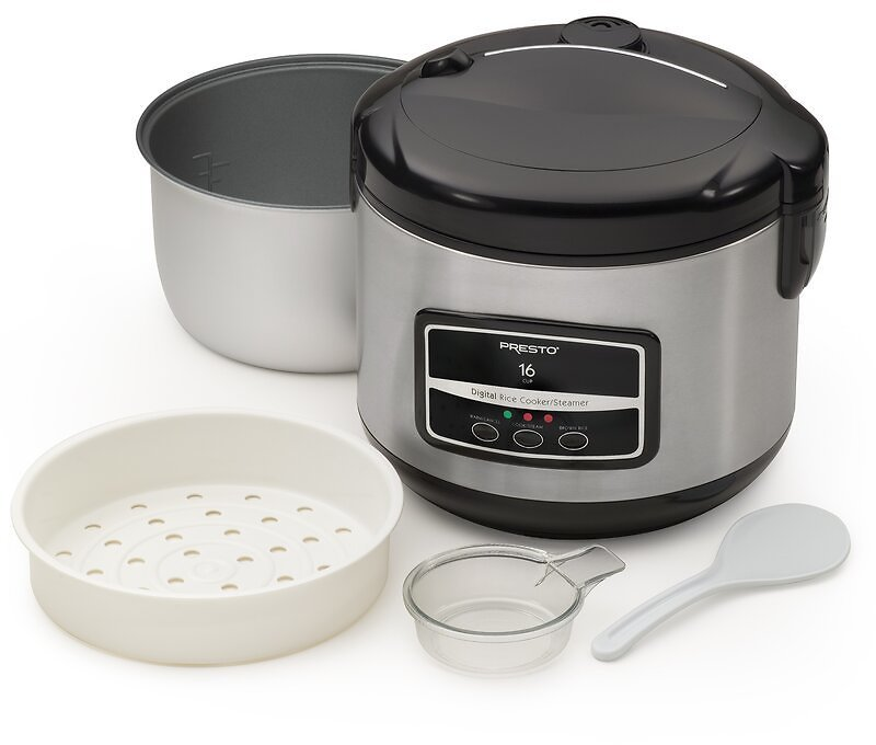 Presto 16 Cup Digital Rice Cooker and Steamer - 05813