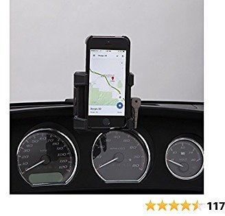 CIRO 50317 Smartphone/GPS Holder (Black Fairing Mount Without Charger for 2014-2016 Flht/Flhx Touring Models)