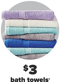 Today Only! $3 Bath Towels - Belk