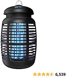[2 in 1] Bug Zapper & Attractant - Effective 4250V Electric Mosquito Zappers Killer - Insect Fly Trap, Waterproof for Indoor & Outdoor - Electronic Light Bulb Lamp for Backyard, Patio, Home, Plug in