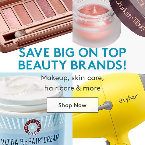 Up to 80% Off Top Beauty Brands