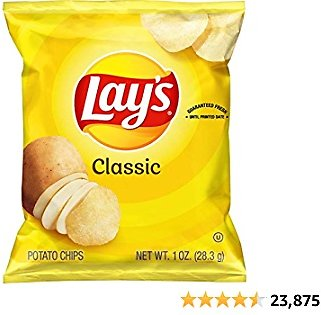 Lay's Classic Potato Chips, 1 Oz (Pack of 40). Grocery Chips