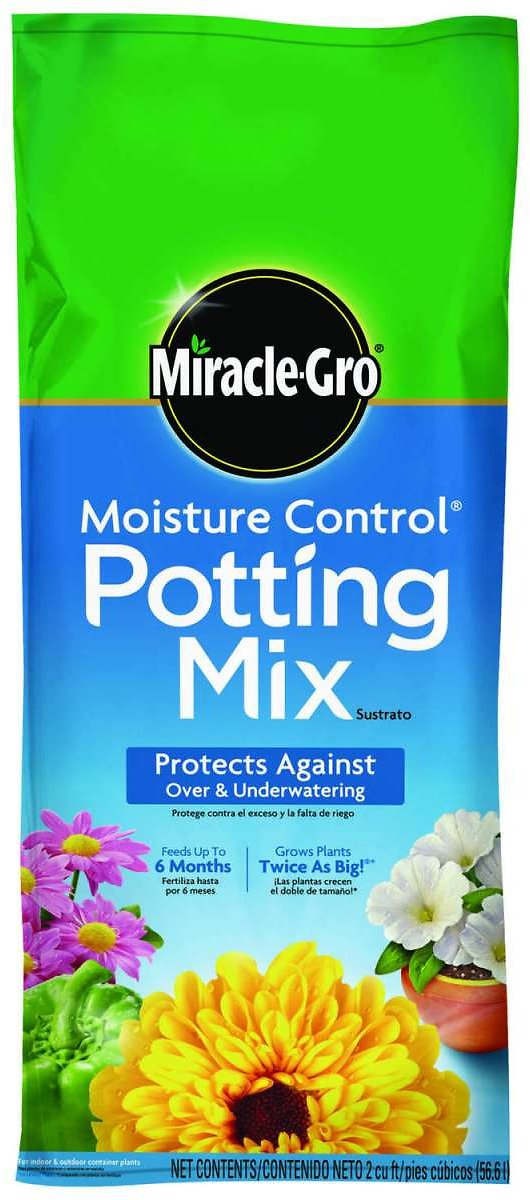 Miracle-Gro Moisture Control Flower and Plant Potting Mix 2 Cu. Ft.