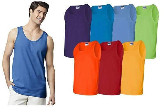 Gildan Men's Ultra Cotton Tank Tops 8-Pack