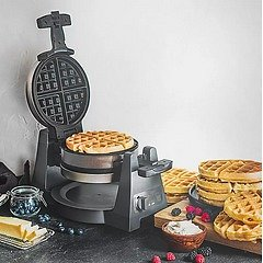 CRUX® Artisan Series Double Rotating Waffle Maker in Grey   Bed Bath & Beyond