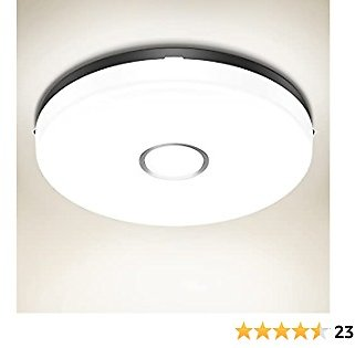 Olafus LED Ceiling Light IP54 Waterproof, 1600LM Round Bathroom Light, 4000K Daylight 18W(120W Equivalent) Ceiling Lamp 9 Inch for Kitchen, Bedroom, Livingroom, Hallway, Non Dimmable