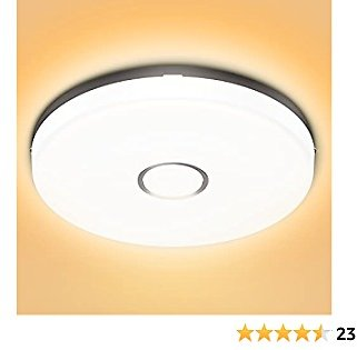 Olafus 18W LED Ceiling Light 9 Inch, 1600LM 2700K Ceiling Lighting, IP54 Waterproof 120W Equivalent Round Ceiling Lamp for Bedroom Livingroom Balcony Kitchen Bathroom, Warm White
