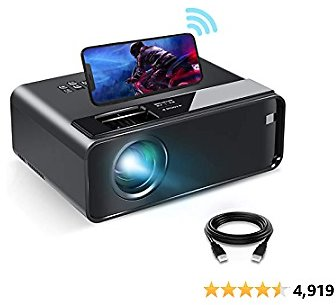 Mini Projector for IPhone, ELEPHAS 2021 Upgrade WiFi Movie Projector with Synchronize Smartphone Screen, 1080P HD Portable Projector Supported 200