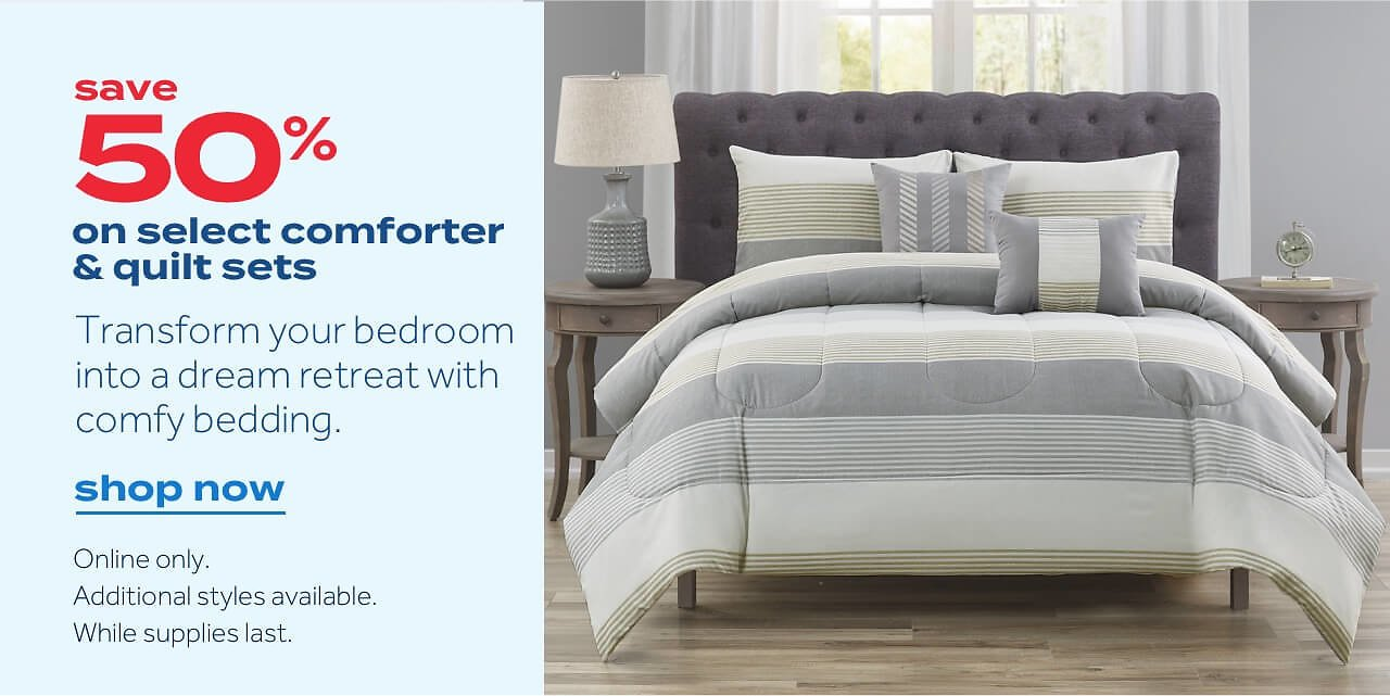Up To 50% Off Select Comforters & Quilts Sets Sale - Bed Bath & Beyond