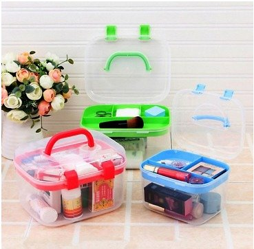 Cosmetic Storage Box Storage Box Family Medical First Aid Kit Multilayer Small Medicine Box Flip Cover