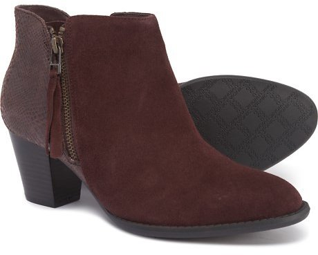 Vionic 322 Anne Ankle Boots - Suede (For Women)