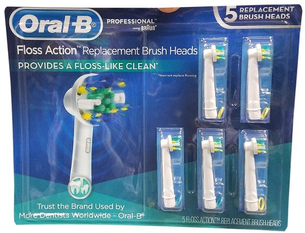 Oral B Floss Action Replacement Brush Heads 5 Count