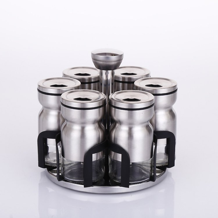 21% OFF Stainless Steel Rotary Spice Jar Set