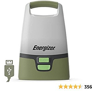 Energizer LED Camping Lantern, IPX4 Water Resistant, 1000 Lumens, Bright and Rugged Lanterns For Camping, Rechargeable or Battery-Powered Lantern Options