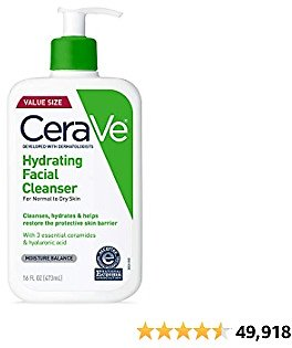 CeraVe Hydrating Facial Cleanser | Moisturizing Non-Foaming Face Wash Beauty.