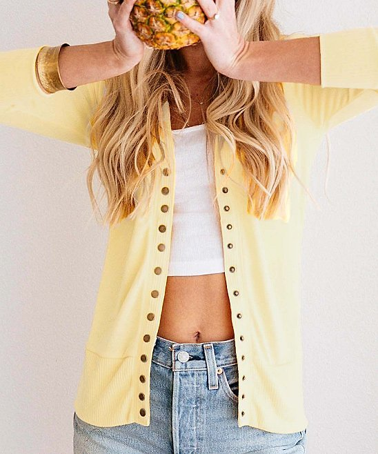 Love This Product Banana Snap-Button Cardigan - Women & Plus