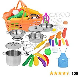 42 Pcs Play Kitchen for Toddlers