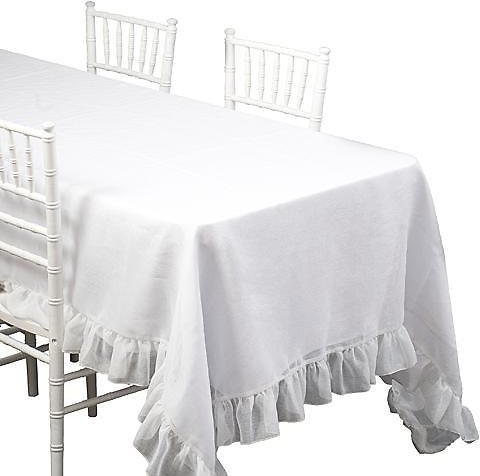 Polyester Ruffle Table Cover