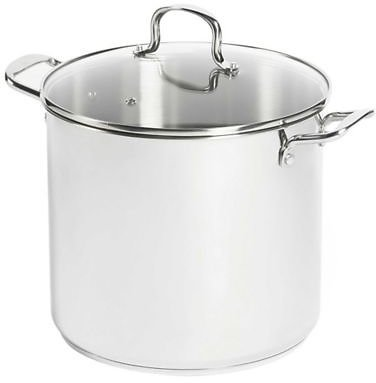 SALT™ 16 Qt. Stainless Steel Covered Stock Pot   Bed Bath & Beyond