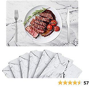 50% Off Wigood Marble Placemats Set of 6