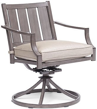 Furniture Wayland Outdoor Swivel Chair with Sunbrella® Cushion, Created for Macy's & Reviews - Furniture