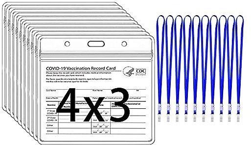10-Pack CDC Vaccine Card Protector & Lanyard