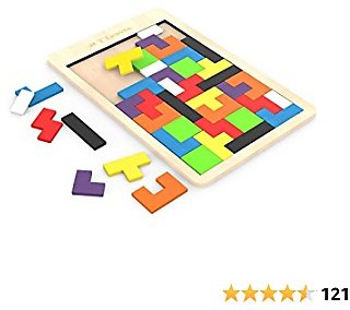 T Leaves Wooden Puzzles, Fun Colorful Puzzles Toys for Kids, Prefect Gift for Boys Girls