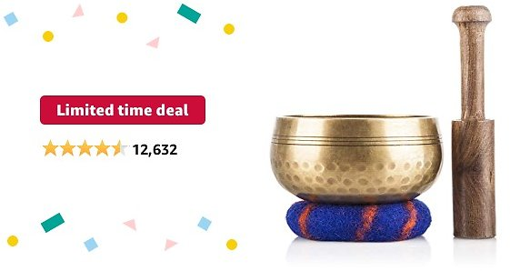 Limited-time Deal: Tibetan Singing Bowl Set — Meditation Sound Bowl Handcrafted in Nepal for Healing and Mindfulness
