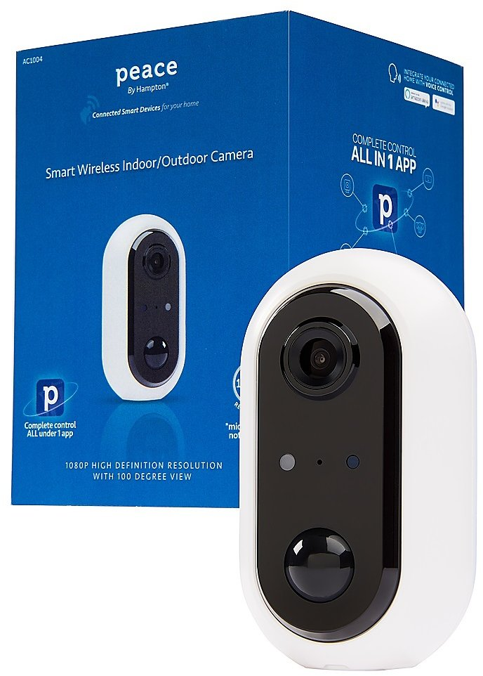 Peace By Hampton Indoor/Outdoor Wireless Camera White