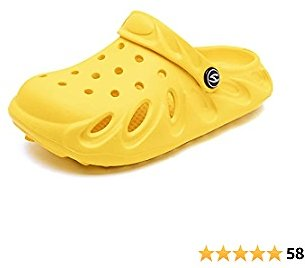 50% Off GUBARUN Unisex Child Clog Shoes | Slip On Water Shoes Casual for Toddler | Little Kids