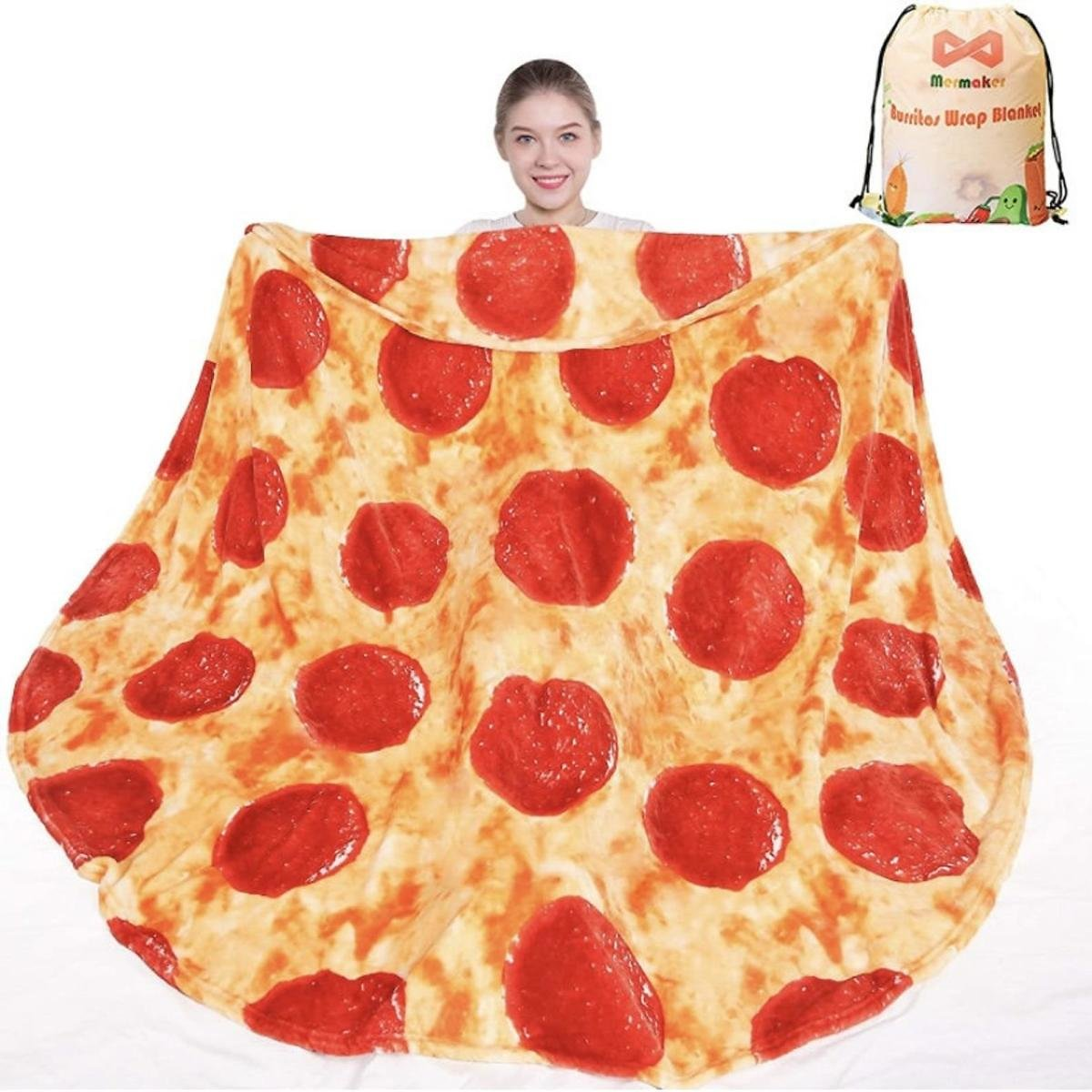 60in (5 FT) Double Sided Pizza Blanket