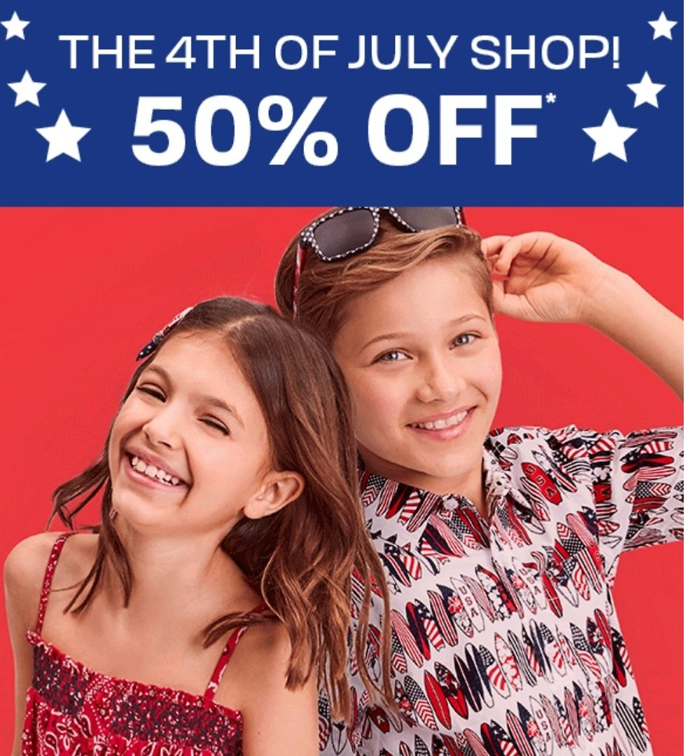 50% Off 4th of July Shop
