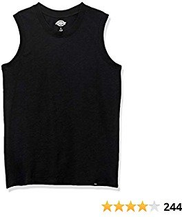 Dickies Women's Muscle Tank Shirt with Full Shoulder Coverage